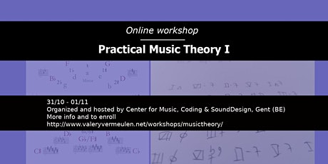 Online workshop Practical Music Theory I tickets