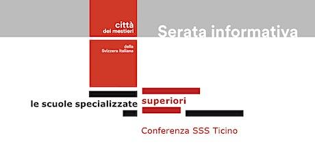 Serata informativa sulle SSS e sul terziario professionale biglietti