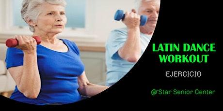 Age 60+ Chair Workout Latin Dances / Ejercicio y Bailes - Bilingual Eng/Esp tickets