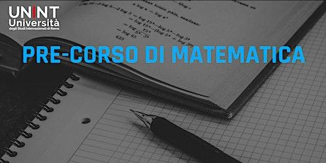 Pre-corso di Matematica biglietti