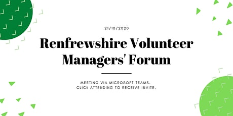 Renfrewshire's Volunteer Managers Forum - Employability Focus tickets
