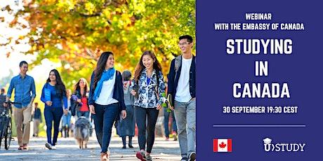 Webinar Studying in Canada tickets