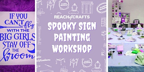 Spooky Sign Painting Virtual Workshop tickets