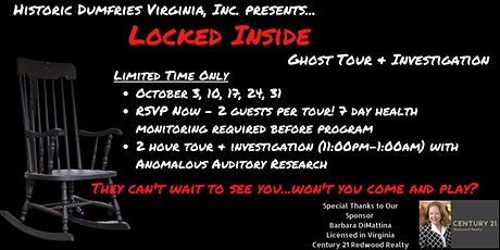 Ghost Walks: Locked Inside tickets