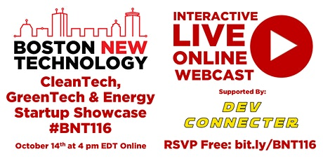 Boston New Technology CleanTech-GreenTech & Energy Startup Showcase #BNT116 tickets