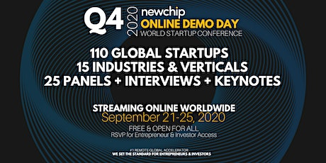 Newchip Accelerator Online Demo Day World Startup Conference Q4 - 2020 tickets