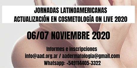 JORNADAS LATINOAMERICANAS ACTUALIZACIÓN EN COSMETOLOGÍA ON LIVE 2020 entradas