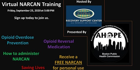 VIRTUAL NARCAN TRAINING WEBINAR!  (Opioid Overdose Prevention) tickets