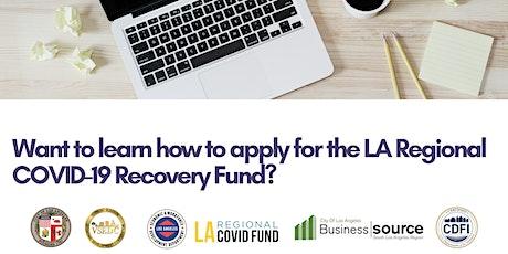 LA Regional Covid-19 Recovery Fund tickets