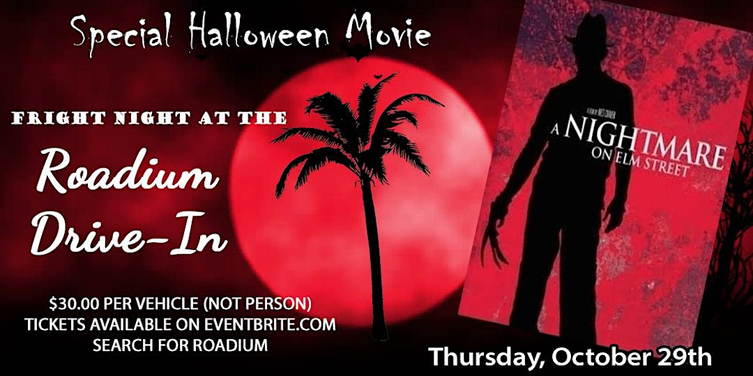 A Nightmare on Elm Street Drive-In Movie at the Roadium in Torrance - Los Angeles Best Things to Do With Kids List for Halloween 2020!