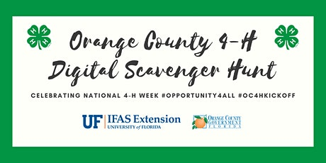Orange County 4-H Digital Scavenger Hunt:  Celebrating National 4-H Week tickets