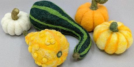 Needle Felt Decorative Fall Gourds - 2 Evening Classes tickets