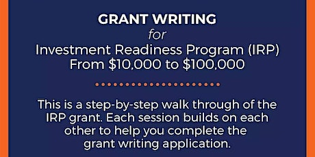 Investment Readiness Grant Writing Working Group tickets