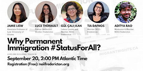 Why Immigration #StatusForAll? A NOII-Fredericton Teach-in tickets