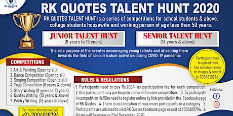 RK QUOTES TALENT HUNT 2020 tickets