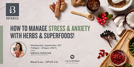 Manage Stress  & Anxiety with Herbs & Superfoods tickets