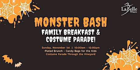 Monster Bash Family Breakfast & Costume Parade tickets