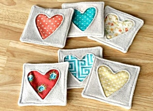 Beginner Sewing: Fabric Heart Coasters tickets