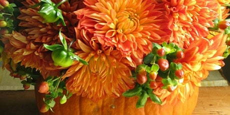 Kids Pumpkin Flower Arrangement Class (Ages 6-12) tickets