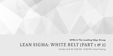 Lean Sigma White Belt Virtual Training tickets