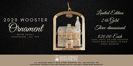 2020 Wooster Ornament tickets