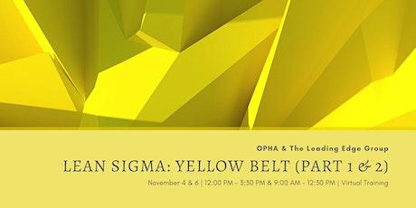 Lean Sigma Yellow Belt Virtual Training tickets