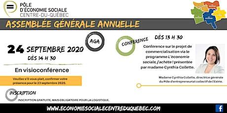 Assemblée générale annuelle du Pôle d'économie sociale du Centre-du-Québec billets