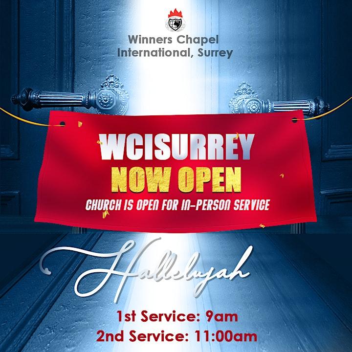 Winners Chapel International Surrey - Sunday  24th, January- SECOND SERVICE image
