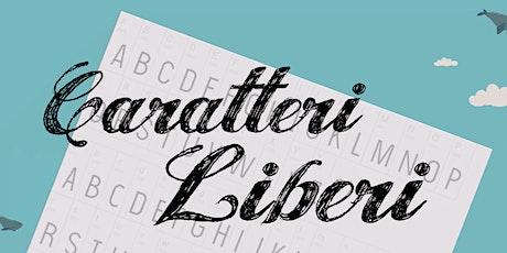 Caratteri liberi! creiamo una font libera e collettiva con pennello e pc biglietti