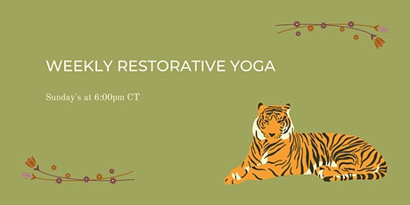 Weekly Restorative Yoga tickets
