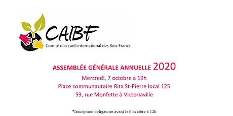 Assemblée générale annuelle du CAIBF tickets