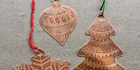 ETCHED COPPER CHRISTMAS ORNAMENTS  (Dec 15) with Kate Civiero tickets