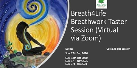 Breath4Life™ Breath Work Taster Session - Virtual Via Zoom tickets