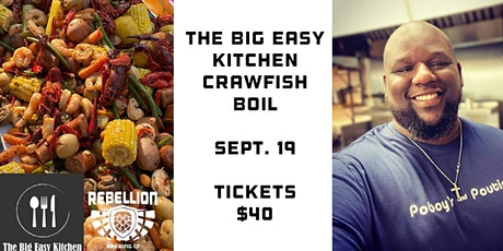 The Big Easy Kitchen Crawfish Boil at Rebellion tickets