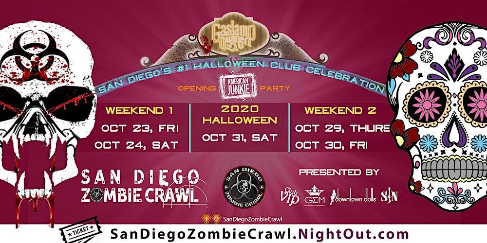 Halloween Party 2020 San Diego 2020 Halloween: San Diego Zombie Crawl Tickets, Fri, Oct 23, 2020