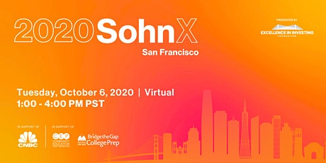 The 2020 SohnX San Francisco Investment Conference tickets