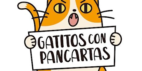 Gatitos con Pancartas entradas