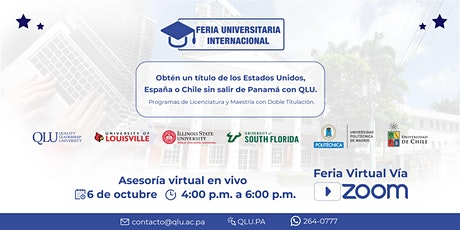 Feria Internacional de Universidades: Asesoría Virtual en Vivo entradas