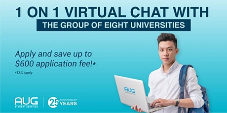 AUG Melbourne 1 on 1 Virtual Chat with Go8 Universities tickets