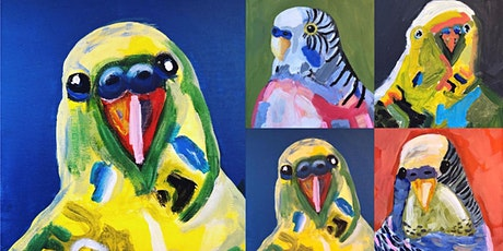 Budgie Portrait Paintings - Creative Workshop with artist Deb Twining tickets