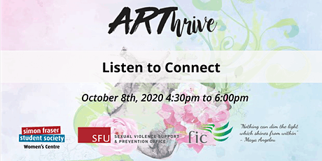 Listen to connect - ARThrive series tickets
