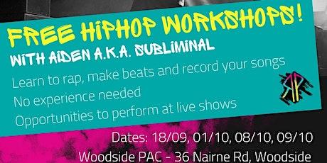 Represent: Hip Hop workshops (rap/lyric writing & beat making) - workshop 3 tickets