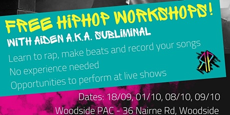 Represent: Hip Hop workshops (rap/lyric writing & beat making) - workshop 4 tickets
