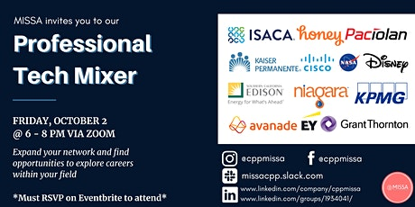 Fall 2020 Professional Tech Mixer ingressos