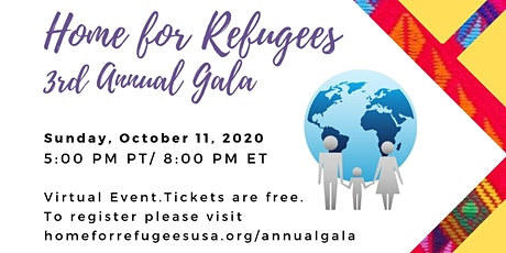 Home for Refugees 3rd Annual Gala Virtual Event tickets