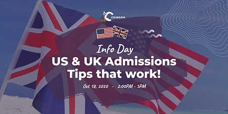 HCMC - Info Day: US/UK Admissions: Tips that work! tickets