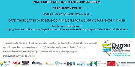 Graduation Limestone Coast Leadership Program 2020 tickets
