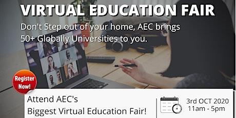 Global Virtual Education Fair   Largest Global Education Fair tickets