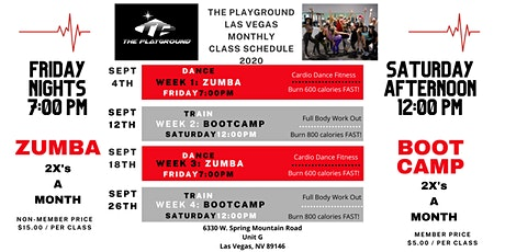 The Playground Fit Camp : Friday Zumba & Saturday Boot Camp tickets