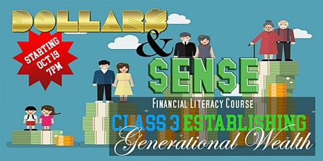 Dollars and Sense Zoom Webinar Establishing Generational Wealth tickets